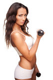 Young beauty keeping her figure trim Royalty Free Stock Photo