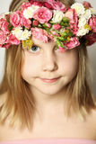 Young beauty, little girl and flowers Royalty Free Stock Photos