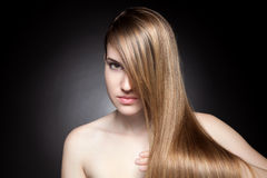 Young beauty with long hair Royalty Free Stock Photo