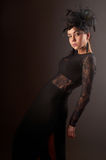 Young beauty model in evening dress Royalty Free Stock Images