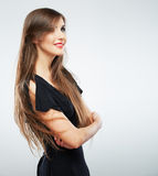 Young beauty model with long hair Royalty Free Stock Photography