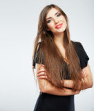 Young beauty model with long hair Stock Images