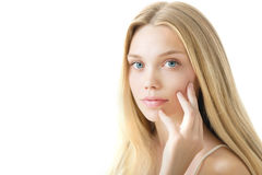 Young Beauty Model with Perfect Fresh Skin. Royalty Free Stock Photos