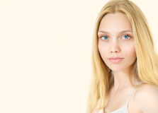 Young Beauty Model with Perfect Fresh Skin. Stock Images