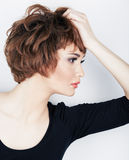 Young beauty model with short hair Stock Images