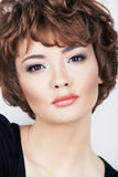 Young beauty model with short hair Royalty Free Stock Photography