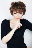 Young beauty model with short hair Royalty Free Stock Images