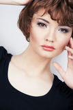 Young beauty model with short hair Stock Image