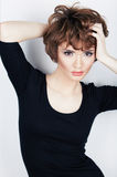 Young beauty model with short hair stock photography