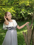 Young beauty. In nature scenery, the picture was taken on June 4, 2013 Royalty Free Stock Image