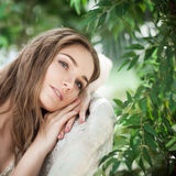 Young Beauty. Nice Woman Fashion Model Resting Stock Photography