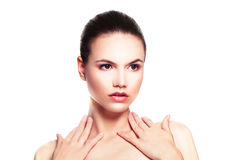 Young Beauty. Perfect Woman  on White Royalty Free Stock Photos