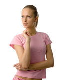 Young beauty in pink Stock Photo