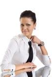 Young beauty secretary woman Stock Photos