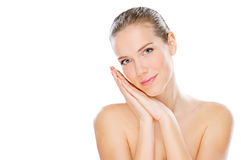 Young beauty with smooth skin royalty free stock images