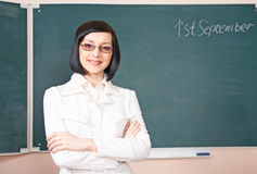 Young beauty teacher Royalty Free Stock Images
