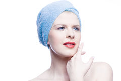 Young beauty with towel Stock Photography