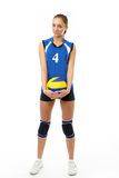 Young, beauty volleyball player Royalty Free Stock Images