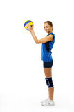 Young, beauty volleyball player Stock Photo