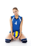 Young, beauty volleyball player Stock Images