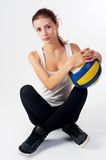 Young  beauty volleyball player Stock Photography