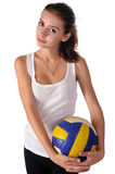 Young beauty volleyball player Royalty Free Stock Photos