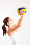Young  beauty volleyball player Stock Image