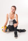 Young  beauty volleyball player Royalty Free Stock Image