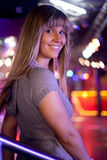 Young beauty woman. In a disco Stock Photos
