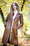 Young beauty woman autumn Royalty Free Stock Photography