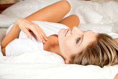 Young beauty woman daydreaming Stock Image