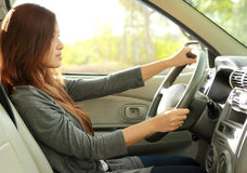 Young beauty woman driving a car Royalty Free Stock Image