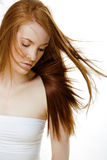 Young beauty woman with ginger hair close up Royalty Free Stock Photography