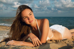 Free Young Beauty Woman On Sea Stock Photography - 15234142