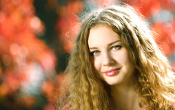 Young beauty woman outdoor Royalty Free Stock Image