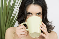 Young, beauty woman relaxing Royalty Free Stock Images