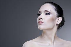 Young beauty woman stylish portrait. Royalty Free Stock Image