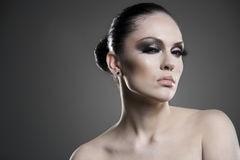 Young Beauty Woman Stylish Portrait. Royalty Free Stock Images