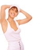 Young beauty woman wearing baseball cap Royalty Free Stock Photos