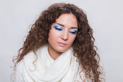 Young beauty woman in winter clothes Royalty Free Stock Photo