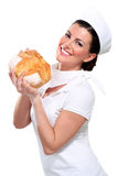 Young Beautyful Woman Baker Royalty Free Stock Photo