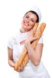 Young Beautyful Woman Baker Stock Photo