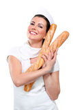 Young Beautyful Woman Baker Royalty Free Stock Images
