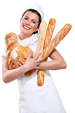 Young beautyful woman baker Stock Image