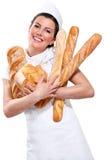 Young Beautyful Woman Baker Stock Image
