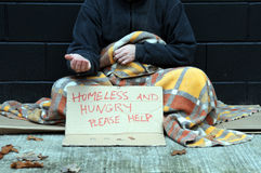 Young beggar Royalty Free Stock Photography