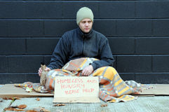 Young beggar Royalty Free Stock Photo