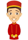 Young bellhop Stock Images