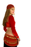 Young Belly dancer. In red Stock Images