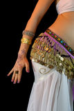Young Belly Dancer, mid section, abdomen close-up Royalty Free Stock Photo